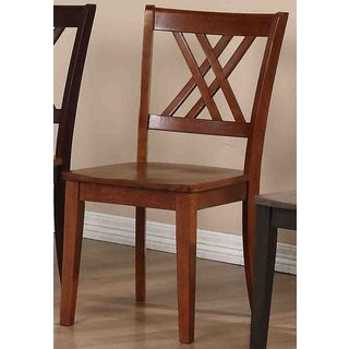 Iconic Furniture Cinnamon Double X-Back Dining Chair (Set of 2)