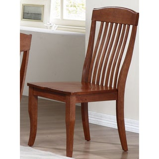 Iconic Furniture Cinnamon Contemporary Slat Back Dining Side Chair (Set of 2)