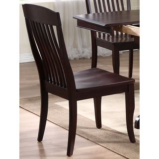 Iconic Furniture Mocha Contemporary Slat Back Dining Side Chair (Set of 2)