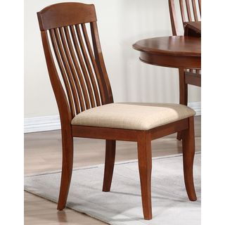 Iconic Furniture Whiskey/ Cinnamon Contemporary Slat Back Dining Side Chair (Set of 2)