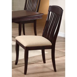 Iconic Furniture Whiskey/ Mocha Contemporary Slat Back Dining Side Chair (Set of 2)
