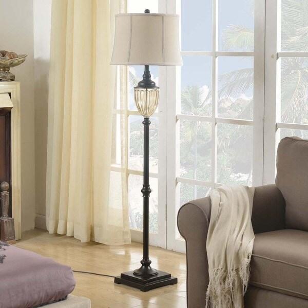 Creek Classics 63-inch Amber Glass Floor Lamp
