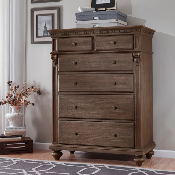 Cristoph Warm Brown 6-drawer Chest - Free Shipping Today ...