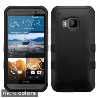 Insten Silver/Black Tuff Hard PC/ Silicone Dual Layer Hybrid Rubberized Matte Phone Case Cover For LG Optimus L90