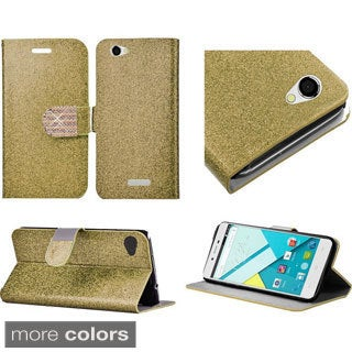 Insten Silver/Gold Leather Glitter Phone Case Cover with Stand/Wallet Flap Pouch/Diamond For BLU Studio Energy
