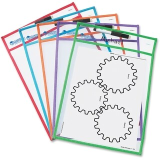 Learning Resources Write-and-wipe Pockets (Pack of 5)