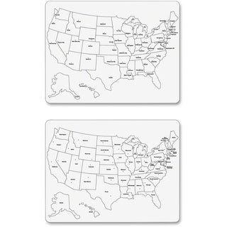 ChenilleKraft 2-Sided Large USA Map Whiteboard