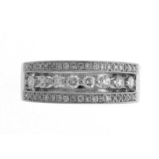 Azaro 18k White Gold 1/2ct TDW Diamond Floating Fashion Ring