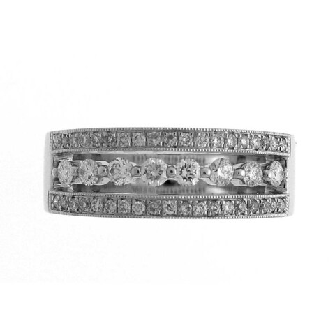 Azaro 18k White Gold 1/2ct TDW Diamond Floating Fashion Ring