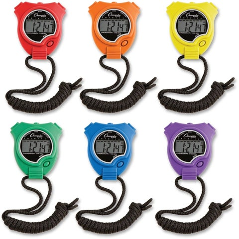Champion Sport Timer Stop Watch 6BX AST (Box of 6)