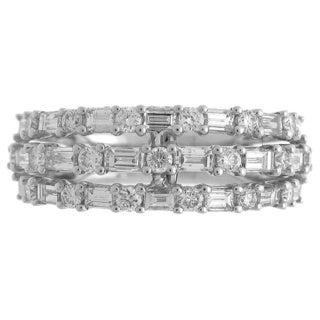 Azaro 18k White Gold 1 5/8ct TDW Diamond Multi-row Band Ring (G-H, SI1-SI2)
