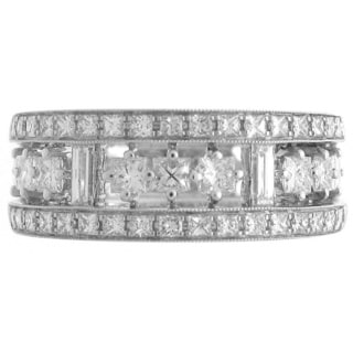 Azaro 18k White Gold 1 1/4ct TDW Diamond Anniversary Ring (G-H, SI1-SI2)