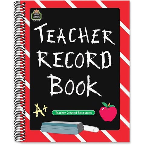 Teacher Created Resources Chalkbrd Teacher Record Book