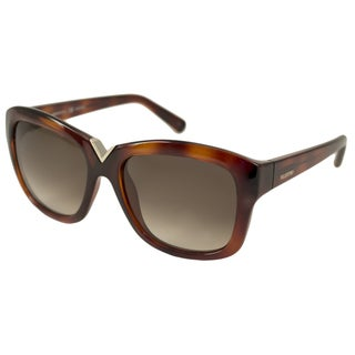 Valentino Women's V664S Havana Gradient Rectangular Sunglasses