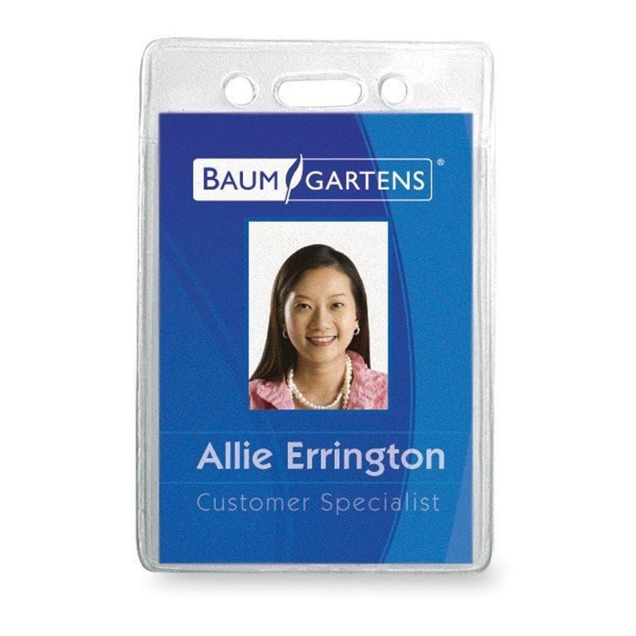 Baumgartens ID Badge Holder (Pack of 12) (Master), Clear