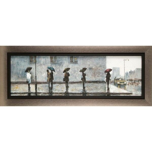 Hobbitholeco. Anastasia C. 'Wait for A Cab' 15 x 35-inch Canvas Wall Decor