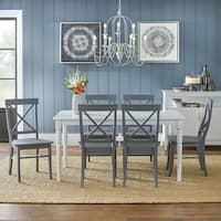 Simple Living 7-piece Albury Cross Back Dining Set