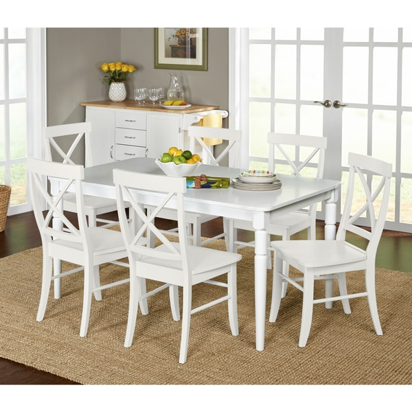 Exceptional Simple Living 7 Piece Albury Cross Back Dining Set