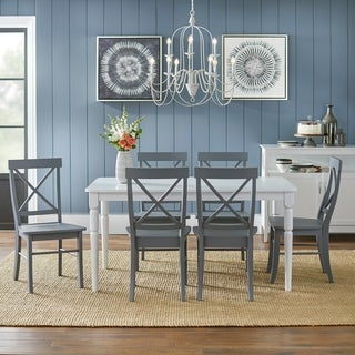Link to Simple Living 7-piece Albury Cross Back Dining Set Similar Items in Dining Room & Bar Furniture