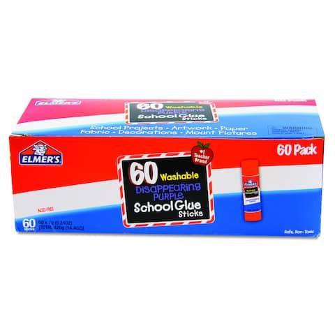 Elmer's Disappearing Purple School Glue Sticks (Box of 60)