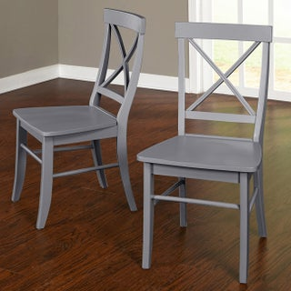 Simple Living Albury Dining Chairs (Set of 2) (Option: Grey)