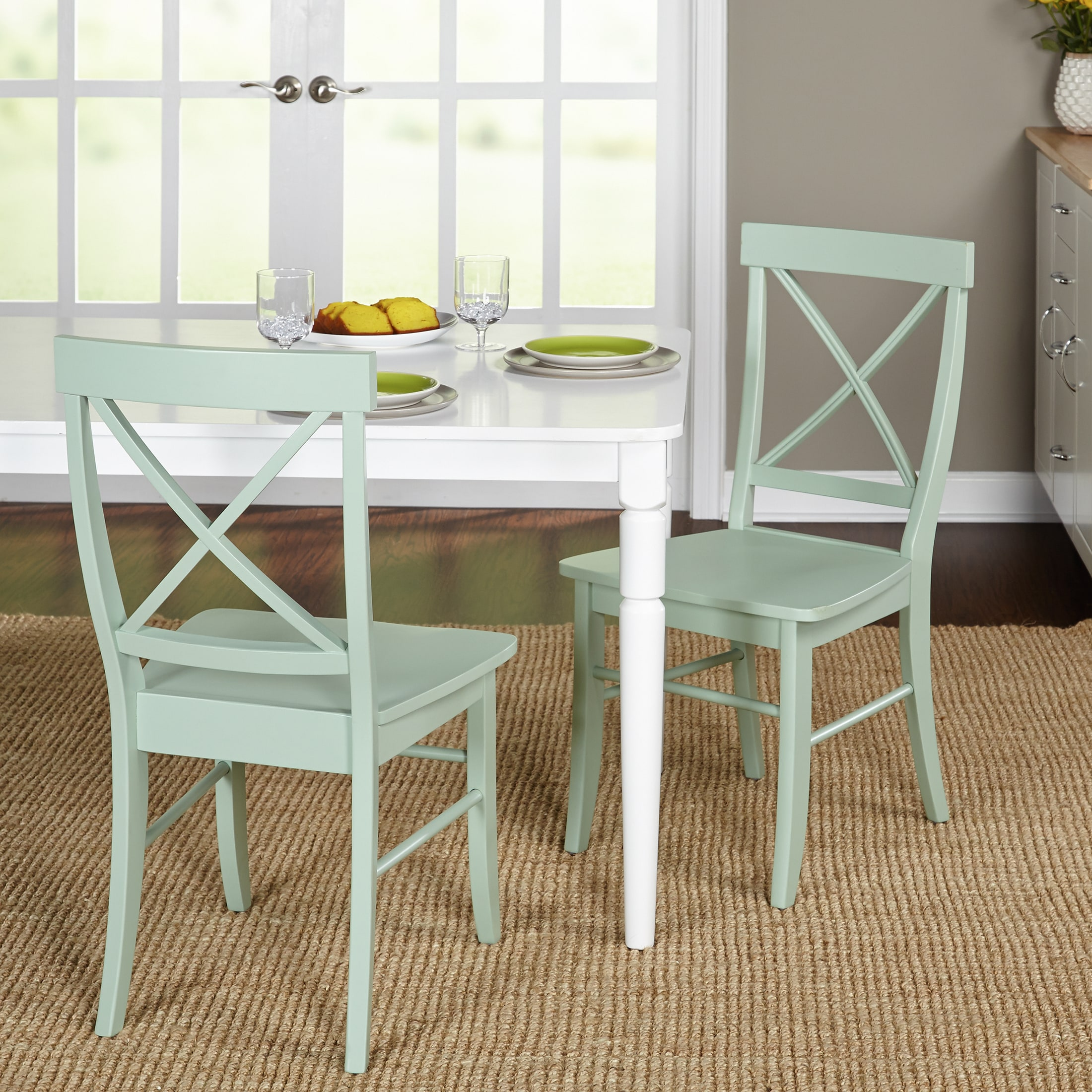 Simple Living Albury Dining Chairs (Set Of 2) (Option: Mint)
