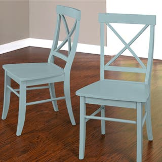blue dining room chairs. Simple Living Albury Dining Chairs  Set of 2 Option Antique Blue Kitchen Room For Less Overstock com