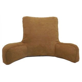 Suede Solid Color Oversized Bedrest Lounger (Option: Brown)