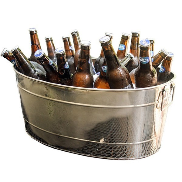 large outdoor l steel beverage oval drink stainless tub