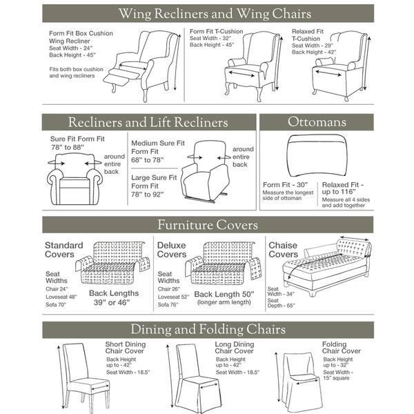 Separate Seat Sofa Slipcover