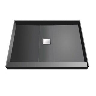 Wonder Drain 36 x 36 Single Curb Shower Pan Tileable Center Top