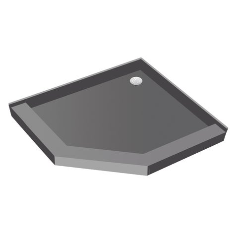 Redi Neo 40 x 40 Neo Angle Shower Pan With Back Drain