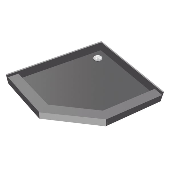 Redi Neo 40 X Angle Shower Pan With Back Drain