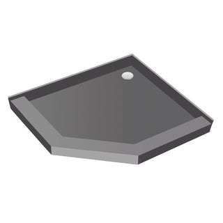 Redi Neo 44 inch D x 44 inch W Neo Angle Fully Integrated Shower Pan with Back PVC Drain