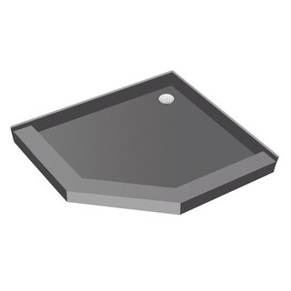 Redi Neo 48 inch D x 48 inch W Neo Angle Fully Integrated Shower Pan with Back PVC Drain