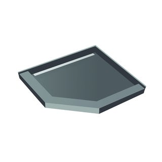 Redi Neo 42 inch D x 42 inch W Neo Angle Shower Pan Left Drain Trench