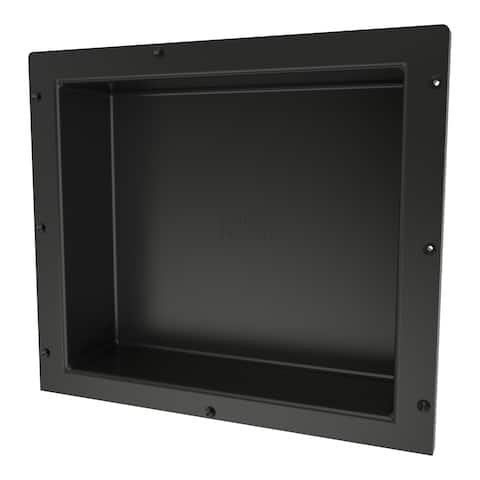 Redi Niche Individually Boxed 16 inch L x 14 inch W Standard Single Niche. Material HIPS Black