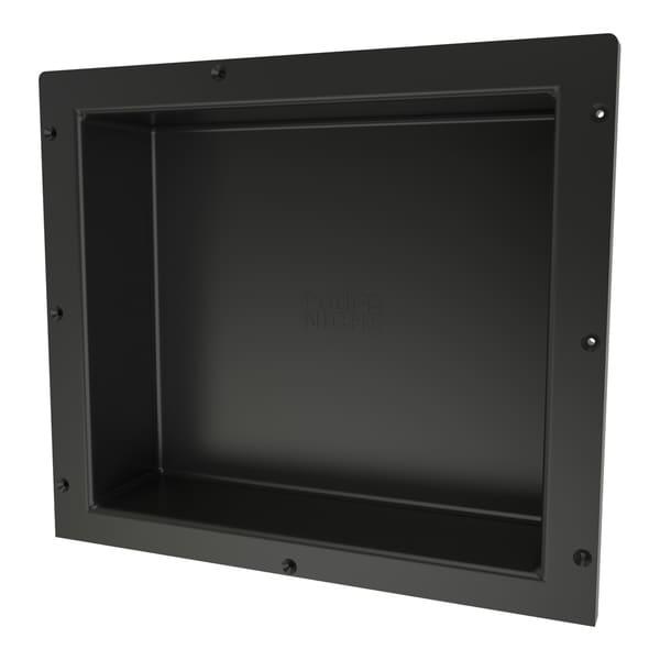 Redi Niche Individually Boxed 16 inch L x 14 inch W Standard Single Niche. Material HIPS Black