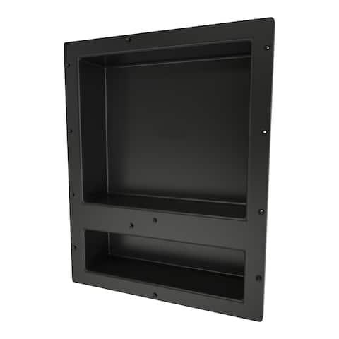 Redi Niche Individually Boxed 16 inch L x 20 inch W Standard Double Niche. Material HIPS Black