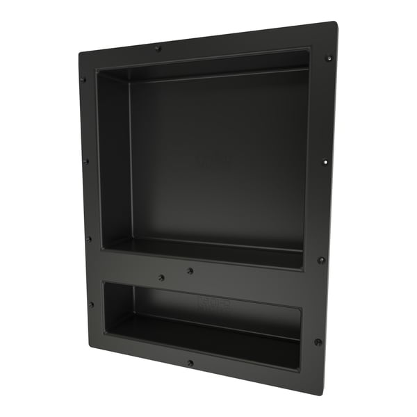 Redi Niche Individually Boxed 16 inch L x 20 inch W Standard Double Niche. Material HIPS Black