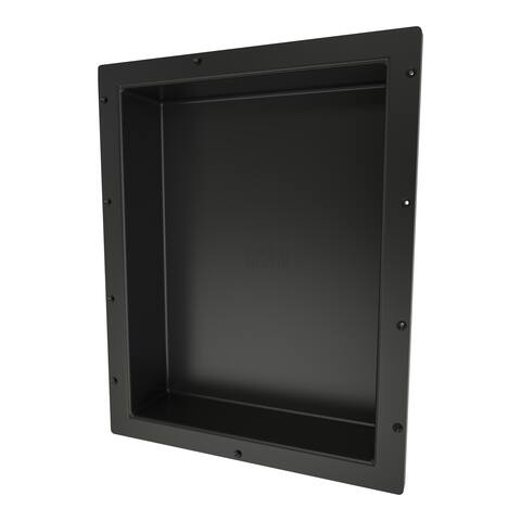 Redi Niche Individually Boxed 16 inch L x 20 inch W Standard Single Niche. Material HIPS Black