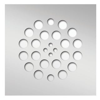 Redi Drain 14 Gauge Stainless Steel Drain 4.25 Square Polished Chrome Finish two matching screws