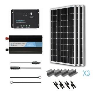 Renogy Complete Solar Kit: 300W Monocrystalline 12V