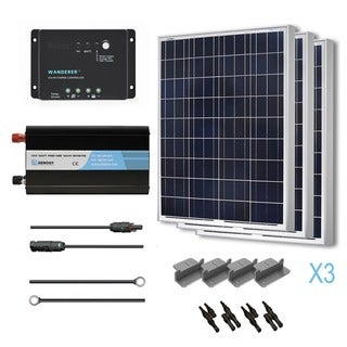 Renogy Complete Solar Kit: 300W Polycrystalline 12V