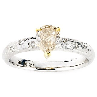 Diamonds for a Cure 18k Two-tone Gold 7/8ct TDW Fancy Light Yellow Diamond Ring