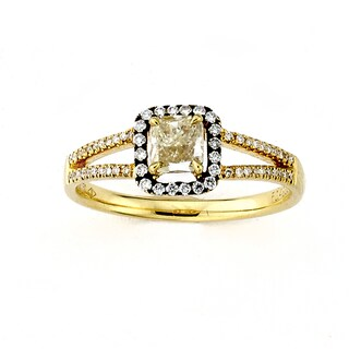 Diamonds for a Cure 18k Yellow Gold 5/8ct TDW Yellow Diamond Cocktail Ring (5 options available)
