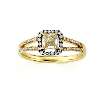 Diamonds for a Cure 18k Yellow Gold 5/8ct TDW Yellow Diamond Cocktail Ring