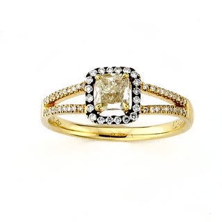 Diamonds for a Cure 18k Yellow Gold 5/8ct TDW Yellow Diamond Cocktail Ring (G-H, SI1-SI2)