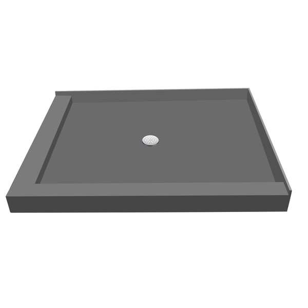 shop redi base 36 x 60 shower pan center drain left dual curb free shipping today overstock. Black Bedroom Furniture Sets. Home Design Ideas