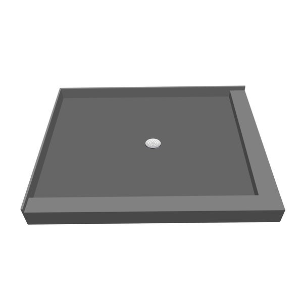 redi base 36 inch d x 60 inch w fully integrated shower pan with center pvc drain with right. Black Bedroom Furniture Sets. Home Design Ideas